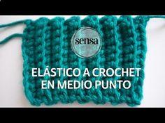 Como hacer el punto elastico o puño a ganchillo o crochet facil - YouTube