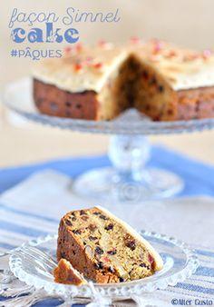 Le dessert de Pâques nous a emmené chez les Anglais, avec cette version très personnelle du Simnel cake    un délicieux gâteau aux fruits secs et à la pâte d'amande