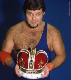 """Check out photos of WWE Hall of Famer Jerry """"The King"""" Lawler competing in the city that made him famous, his hometown of Memphis, Tenn. Wrestling Posters, Wrestling Wwe, Superstar Billy Graham, Famous Wrestlers, Jerry The King Lawler, Wrestling Superstars, Professional Wrestling, Champs, Memphis"""