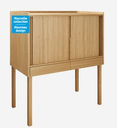 Habitats and armoires on pinterest for Secretaire meuble habitat