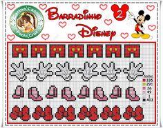 Pontinhos Mágicos: Gráficos Disney Barradinhos e Motivos Fáceis.
