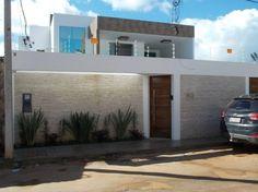 Casas modernas - fachada de muro