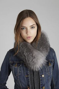 Indigo Windsor Fox #Fur Collar