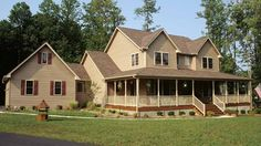 Plan 4122DB: Country Home Plan With Marvelous Porches