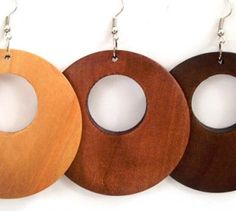 Items similar to Open Wooden Hoop Earrings on Etsy Circle Earrings, Gold Hoop Earrings, Diy Earrings, Chunky Chain Necklaces, Layered Necklaces Silver, Wooden Earrings, Wooden Jewelry, Diy Jewelry, Jewellery