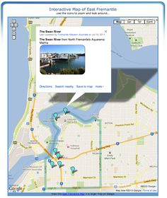 East Fremantle Map - Map of East Fremantle, Western Australia (Boundary Map) Tennis Clubs, Interactive Map, Western Australia, Maps, River, Blue Prints, Map, Rivers, Cards