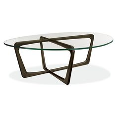 Room & Board - Dunn 47w 33d 15h Cocktail Table with Glass Top