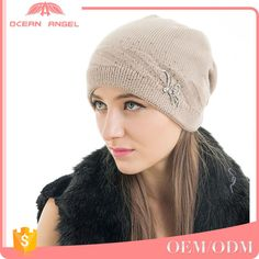 Look what I found Via Alibaba.com App: - Best-selling custom plain slouchy women winter crochet hat knitted beanies with diamonte flower