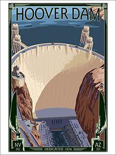 Hoover Dam Aerial (9x12 Art Print, Wall Decor Travel Poster) Lantern Press http://www.amazon.com/dp/B00N5CXYX0/ref=cm_sw_r_pi_dp_nHlGwb01F8M52