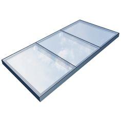 Het enkelvoudige Flushglaze gaat tot 6.5 m2, voor grotere oppervlakken kunnen we meerdere delen koppelen tot een vlakke lichtstraat. Tot ee...