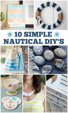 These nautical DIY's are awesome because they are easy!