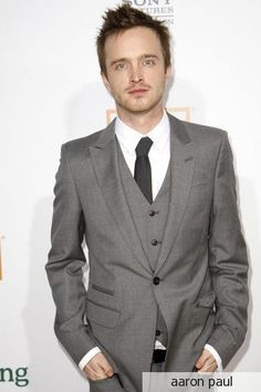 """Aaron Paul--The only guy who can dress like a scrub on camera and """"cook meth"""" and still be completely attractive."""