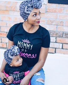 Mother Daughter Photography Photos Black and White Hair bun Princess and Queen Matching Photos Matching outfits African American