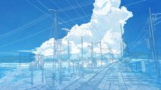 Aesthetic Desktop Wallpaper, Scenery Wallpaper, Aesthetic Backgrounds, Blue Aesthetic Pastel, Sky Aesthetic, Aesthetic Anime, Sky Anime, Blue Anime, Cute Laptop Wallpaper
