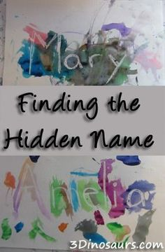Finding the Hidden Name // white crayon // paint // name recognition // toddler activity Más Preschool Name Recognition, Preschool Names, Preschool Literacy, Preschool Lessons, Classroom Activities, In Kindergarten, Preschool Activities, Letter Recognition, Language Activities
