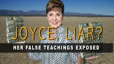"Warning: Joyce Meyer's false unbiblical teachings prove that she has a different gospel. #JoyceMeyer ""adds to"" and ""takes from"" the Gospel."