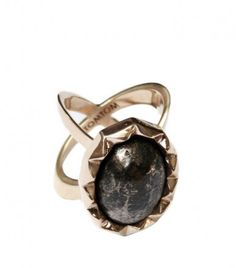 Pyrite ring by TomTom Jewelry - Covet Chic