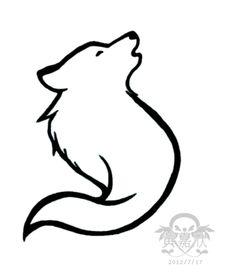 Howling wolf tattoo I designed