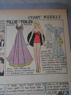 Tillie the Toiler 8-7-38 from Ebay