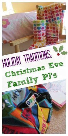 christmas eve tradition: family pajamas!