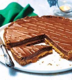 Tarte fondante choco-caramel