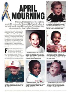 Victims of the Oklahoma city bombing, An American did this... should we round them all up and get rid of them to save our  children from them?