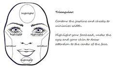 triangle (pear or diamond) face contouring
