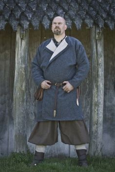 """Winter caftan: Double wool and linen lining. Super ultra warm and heavy. Rus pants: Herringbone wool"" https://www.facebook.com/pages/Austrr%C3%ADki-Viking-Age-clothing/103118096436662"