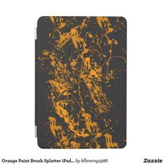 Orange Paint Brush Splatter iPad mini Cover
