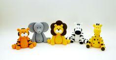3 Fondant Jungle Animals Cake Topper by SugarDecorByLetty on Etsy https://www.etsy.com/listing/228475894/3-fondant-jungle-animals-cake-topper