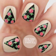 One Nail To Rule Them All: Rose Curtains Nail Art