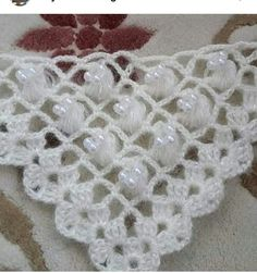 Crochet Flower Patterns, Lace Patterns, Crochet Flowers, Lace Knitting, Crochet Necklace, Ravelry, Stitch, Create, Bandana