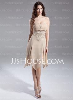 Homecoming Dresses - $106.99 - A-Line/Princess Strapless Knee-Length Chiffon Homecoming Dresses With Ruffle Lace Beading (018015644) http://jjshouse.com/A-Line-Princess-Strapless-Knee-Length-Chiffon-Homecoming-Dresses-With-Ruffle-Lace-Beading-018015644-g15644