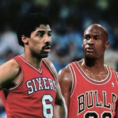 """""""Dr. J"""" Julius Erving and the GOAT Michael""""Air"""" Jordan"""
