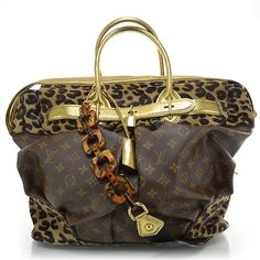 Louis Vuitton Monogram Leopard Steamer Bag Luggage RARE Travel | eBay