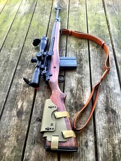 gunrunnerhell: James River Armory M21An accurized sniper rifle variant of the M14. Note the fake selector switch. M21′s usually incorporate glass bedded stocks, National Match parts and other modifications to squeeze a bit more accuracy without using heavy weight barrels. It's also got a removable and adjustable Bradley Cheek Rest/Riser. Some M21′s have a integral cheek riser built into the wooden stocks. (GRH)