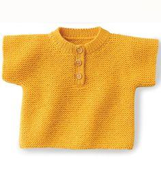 Modèle pull manches courtes bébé - Modèles Layette - Phildar