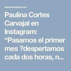 """Paulina Cortes Carvajal en Instagram: """"Pasamos el primer mes 😰despertamos cada dos horas, nos levantamos como zombis, Gaspar y Renato se visten solos, la casa está ordenada casi…"""" • Instagram"""