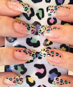 Animal Themed Nail Art Designs: Let? try top 50 animal print nail art designs. Leopard Nail Art, Leopard Print Nails, Leopard Prints, Fancy Nails, Pretty Nails, Fancy Nail Art, Cute Nail Art, Hot Nails, Fabulous Nails