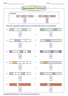 Writing Equivalent Fractions Using Fraction Bar Model