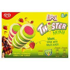 Twister Mini Pineapple, Strawberry & Lemon Ice Cream Lollies