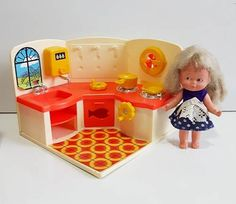 Brinquedo Cozinha Mini Cuca Com Boneca  Estrela Anos 70/80