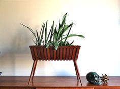 Danish teak plant stand / cactus stand 1950s by lestrictmaximum