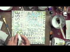 Christmas canvas tutorial by Christy Tomlinson