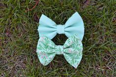 Jasmine Bow Set by Sophster-Toaster Spring Summer 2015, Toaster, Jasmine, Mint, Bows, Unisex, Trending Outfits, Unique Jewelry, Handmade Gifts