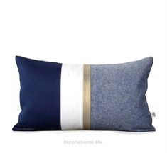 Fantastic Metallic Gold Stripe Pillow Cover in Navy and Cream – Modern Home Decor by JillianReneDecor – Chambray – Colorblock – Nautical Pillow  The post  Metallic Gold Stripe Pillow Cover in Nav ..
