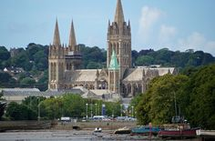 Truro Cathedral (and the tower of Kenwyn Church peeping through the trees)