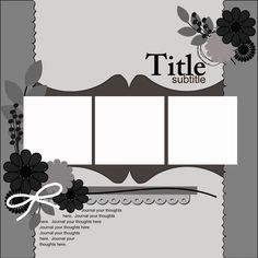Ideas for Scrapbookers: A New Template with Two Brackets--and bracket edging too!