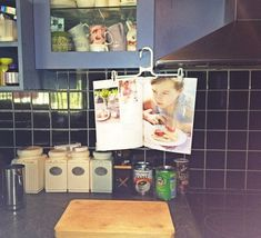 Use a pants hanger to hold up a magazine recipe while you cook. | 27 Clever Ways To Use Everyday Stuff In The Kitchen