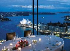 Altitude restaurant at the Shangri-la, Sydney Australia. Great place for private dinner of up to 20 people. Beautiful views from Blu Bar and Altitude on Level Shangri La Sydney, Shangri La Hotel, Pink Lake, Luxury Boat, Luxury Travel, Luxury Cars, Caldera Santorini, Altitude Restaurant, Hotel Edelweiss